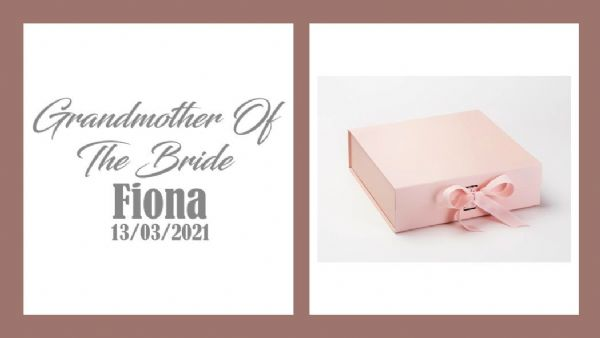 Grandmother Of The Bride Large Luxury Personalised Gift Box